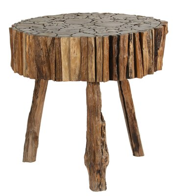 Ibolili Round Cut Teak Wood End Table