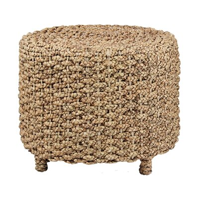 Ibolili Water Hyacinth Round Braided End Table