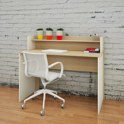 Nexera Atelier Writing Desk with Hutch