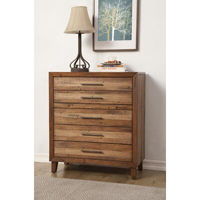 August Grove Kevin 5 Drawer Chest