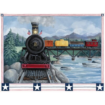 Oopsy daisy locomotive journey wall mural wayfair for Daisy fuentes wall mural
