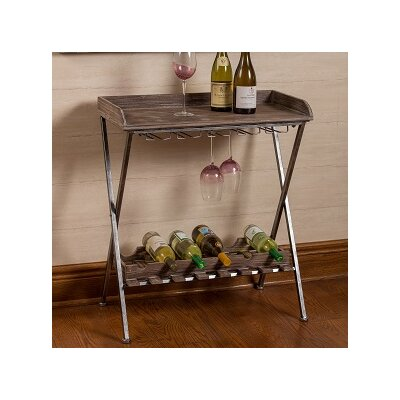House of Hampton Hoylake 6 Bottle Floor Wine Rack