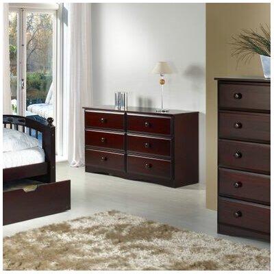 Camaflexi Essentials 6 Drawer Double Dresser