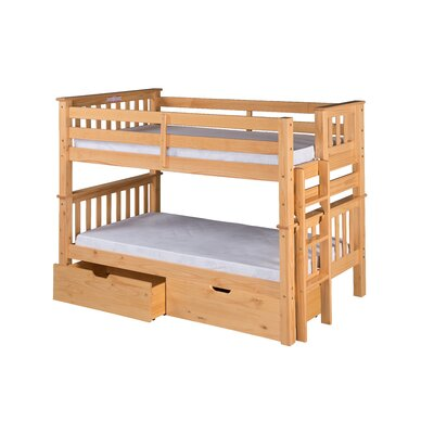 Camaflexi Santa Fe Mission Twin Bunk Bed with St..