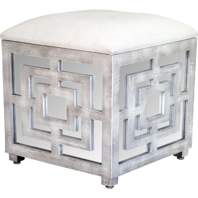 Statements by J Reena Mirrored Cube Ottoman
