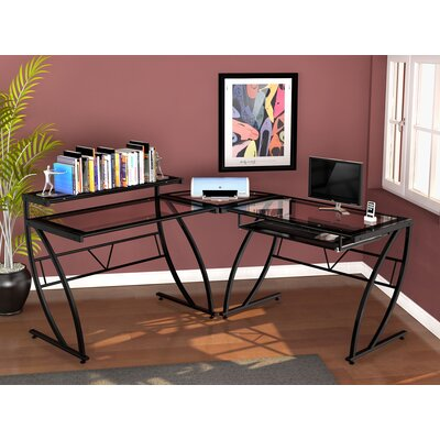 Z-Line Designs Chandler Glass L Desk