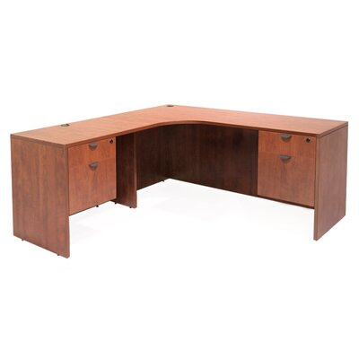 Regency Legacy Executive Desk with Left Radius Corner