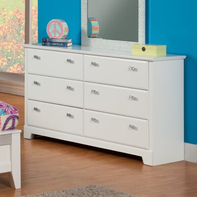 Sandberg Furniture Hailey 6 Drawer Double Dr..