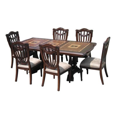 D-Art Collection Sheraton 7 Piece Dining Set