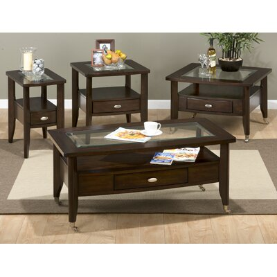 Jofran Montego Merlot Coffee Table Set