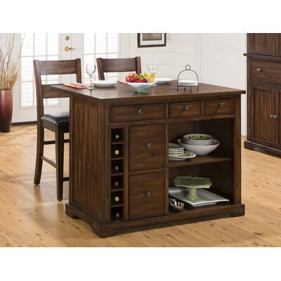 Jofran Cooke County 3 Piece Kitchen Island Set