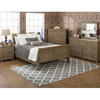 Laurel Foundry Modern Farmhouse Cannes Sleigh Customizable Bedroom Set