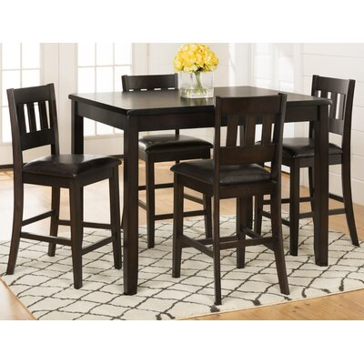 Latitude Run Barney 5 Piece Counter Height Pub T..