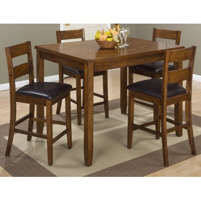 Jofran Plantation 5 Piece Counter Height Pub Tab..