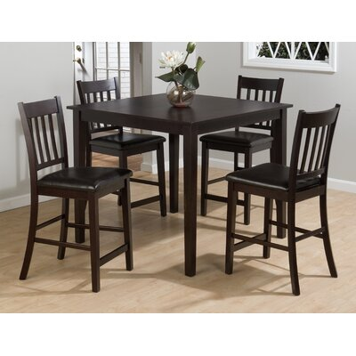Jofran Marin Country Merlot 5 Piece Dining Table..