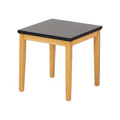 Lesro Lenox End Table with Black Melamine Top
