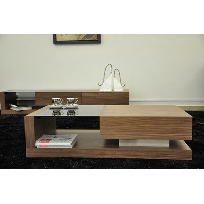 Beliani Porto Contemporary Coffee Table with Gla..