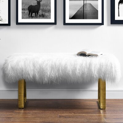 Mercer41 Norma Sheepskin Entryway Bench