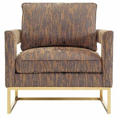 Mercer41 Martin Textured Velvet Arm Chair