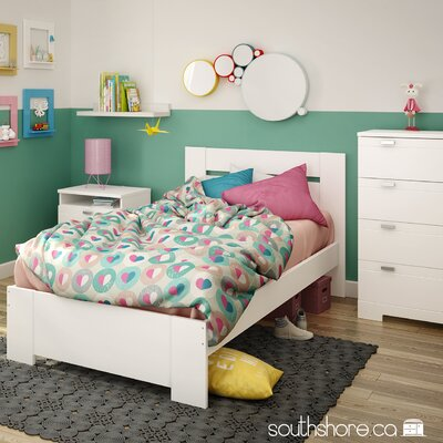 South Shore Reevo Twin Panel Customizable Bedroom Set