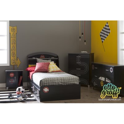 South Shore Luka Twin Platform Customizable Bedroom Set