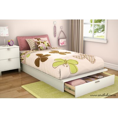 South Shore Step One Twin Platform Bed with Stor..