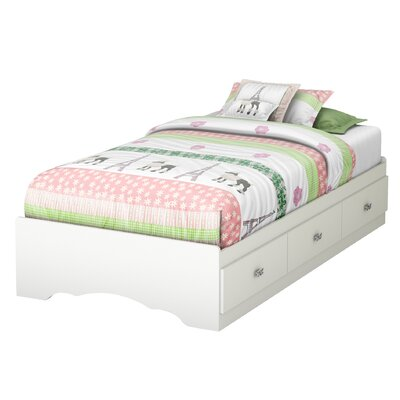 South Shore Tiara Twin Mate's Bed with Storage