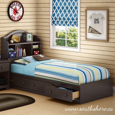 South Shore Summer Breeze Twin Mate's Bed with Storage
