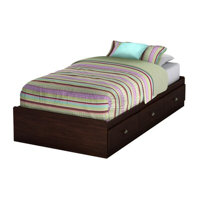 South Shore Willow Twin Mate's Bed with Storage