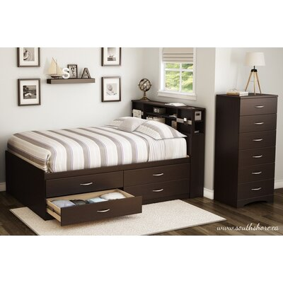 South Shore Step One Platform Customizable Bedroom Set