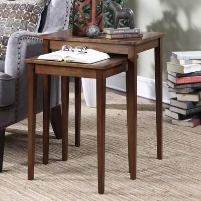 Convenience Concepts American Heritage 2 Piece Nesting Tables