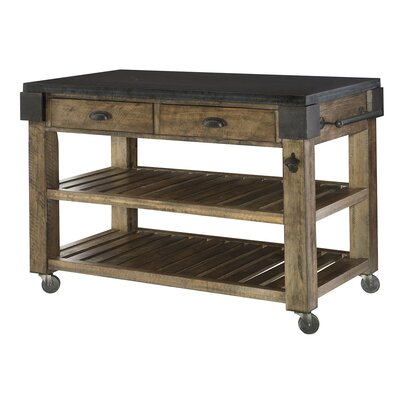 Hammary Hidden Treasures Kitchen Island with Granite