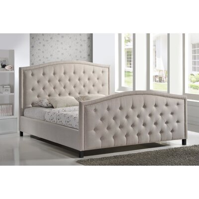 LuXeo Camden King Upholstered Panel Bed