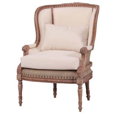 One Allium Way Jaune French Wing Chair