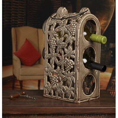 Bombay 3 Bottle Tabletop Wine Rack