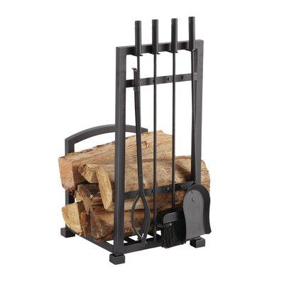 Pleasant Hearth 4 Piece Harper Fireplace Log Holder And Tool Set Reviews Wayfair