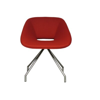 B&T Design Red Swivel Camira Wool Side Ch..