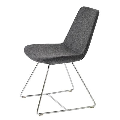 B&T Design Pera Wire Base Wool Side Chair