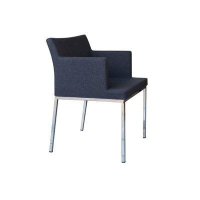 B&T Design Soho Metal Base Wool Arm Chair