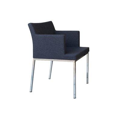 B&T Design Soho Metal Base Wool Arm Chair