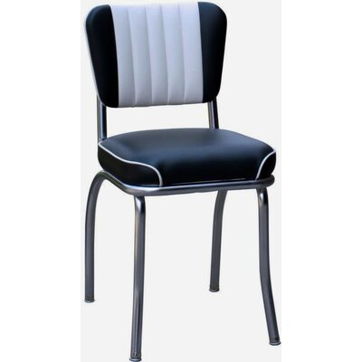 Richardson Seating Retro Home Side Chair with Two Toned Channel Back
