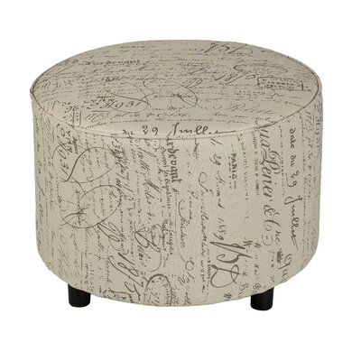 Cortesi Home Shakespeare Script Ottoman
