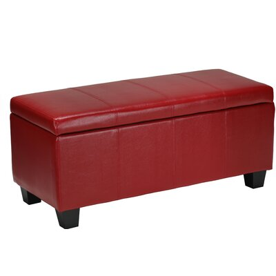 Cortesi Home Vera Leather Cocktail Ottoman
