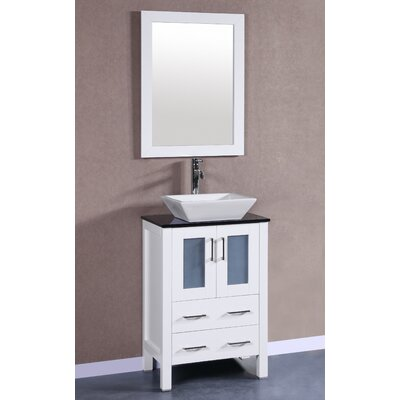 Bosconi 24 Single Vanity Set With Mirror Wayfair