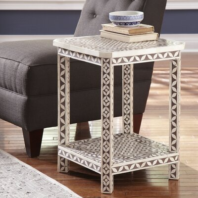 Bungalow Rose Khalaf Inlay End Table