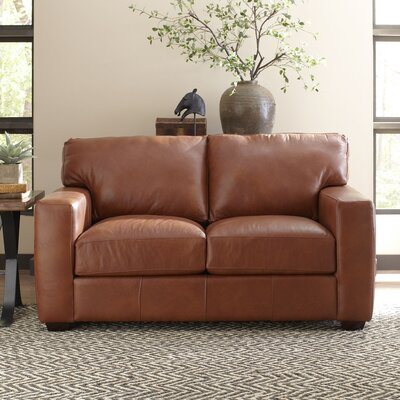 Birch Lane Pratt Leather Loveseat