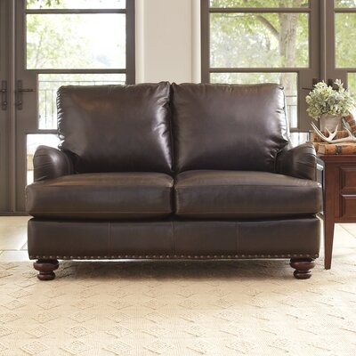 Birch Lane Montgomery Leather Loveseat