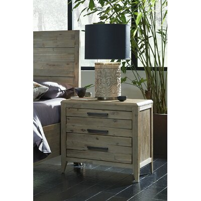 Laurel Foundry Modern Farmhouse Descartes 3 Drawer Nightstand