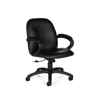 Global Total Office Tamiri Low-Back Chair with Fixed Height Loop Arms