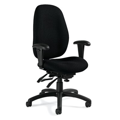 Global Total Office Malaga High-Back Chair with Arms